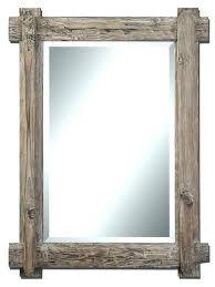 diy wood mirror frame. Rustic Mirror Frame Wondrous Frames Reclaimed Wood  . Diy