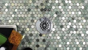 hole wall bathroom mosaic backsp bunnings half coasters quarter cut white magnificent edge penny glass shaped