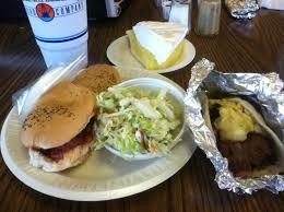 Bill Miller Bar B Q 1 Combo Po Boy Brisket Sandwich