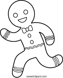 Small Picture Running Gingerbread Man Line Art Free Clip Art