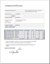 Invoice Format New Commercial Invoice Template For MS Excel Word Excel Templates