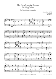 music notes in words the star spangled banner piano and words sheet music notes
