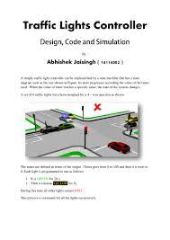 Design Traffic Light System Traffic Lights Controller In Vhdl