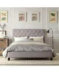 BIG Deal On HomeVance Darla Tufted Linen Platform Bed  Queen GreyLinen Platform Bed