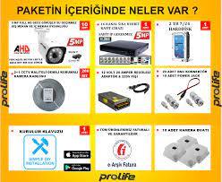 ✓10 Kameralı 5 MP SONY HD LENS 1440P Güvenlik Kamerası Sistemleri Fiyatları  ve Özellikleri