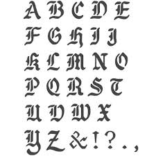 Templates Alphabet Letters J Boutique Stencils Transparent Creative Basic Lettering Stencil Reusable Template A Z Alphabet Letters