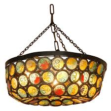 simple stained glass chandelier design for small home decoration
