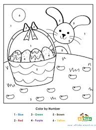 Practice number recognition, fine motor skills, and more with this cute easter egg color by number coloring page. Easter Color By Number All Kids Network