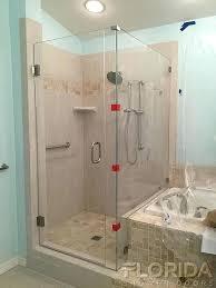 glamorous glass shower door brackets glass to wall hinge shower door with inline panel and return