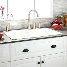 drop in porcelain kitchen sink tremendous white home design 11