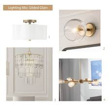 how to select light fixtures glam mood board
