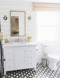 patterned floors and shiplap walls studio mcgee