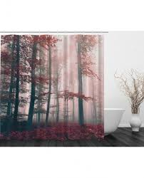 shower curtain autumn fall nature decor print for bathroom with regard to astonishing nature themed shower