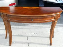 half round console table large size of round console table with inspiring half round entry table