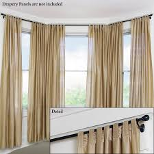 gorgeous bay windows with elegant curtain hang out with bronze curtain rods