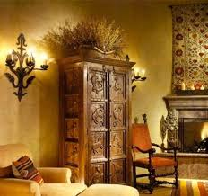spanish style furniture. House Interior With Carved Spanish Style Furniture