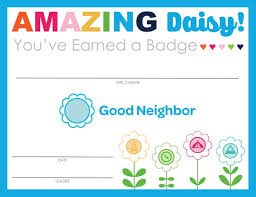 Completion Certificates Complete Set Of Scouting Daisy Badge Journey Completion Certificates Strawjenberry