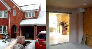 Convert 2 car garage into living space Turning Convert Car Garage Into Living Space The Existing Home Before And During The Work The Riselikelionsinfo Convert Car Garage Into Living Space The Existing Home Before And