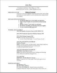 Sample Resume For Medical Technologist Resume Work Objective Medical