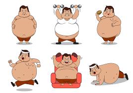 Fat Man Character Design Fat Guy Character Vector Download Free Vectors Clipart