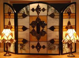 Unique fireplace screens Modern Stained Glass Fireplace Screen Custom Aidnature Stained Glass Fireplace Screen Custom Aidnature Stained Glass