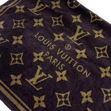 brandvalue louis vuitton louis vuitton bath towel monogram brown x beige 100 cotton lady s men g0106 rakuten global market