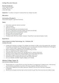 Recruiter Resume Template Adorable Recruiter Resume Examples Unique Recruiter Resume Campus Recruiter