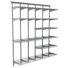 satin chrome ventilated wire shelf system