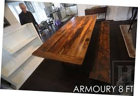 dining table set for sale in toronto. details: 8.5 plank table \u2013 42\u2033 wide premium epoxy + matte polyurethane finish reclaimed barnwood threshing floor hemlock matching foot bench dining set for sale in toronto
