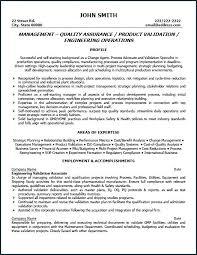 Senior Quality Assurance Manager Resume Cover Letter Test Engineer