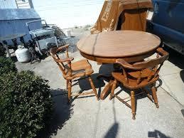 captains wooden chair vintage oak frame wood grain top table w 4 captains chairs leaf in wood captains chair plans