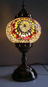 turkish moroccan style mosaic glass table lamp hand craft desk