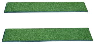indoor or outdoor non slip carpet stair treads oasis green set of 3