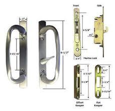 image is loading patio door handle kit mortise lock faceplate keepers