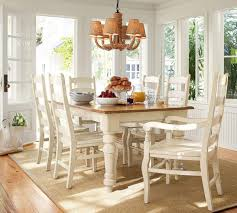 pottery barn kitchen craigslist soft white paint color decorative stainless steel dining set ideas white high