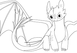 Small Picture Toothless Night Fury Color Pages Coloring Coloring Pages