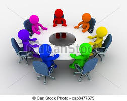 conference council discussion forum meeting round table icon