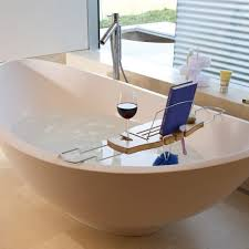 stunning bathtub reading tray wooden caddy with wine and book holder plus wood rack on bathroom