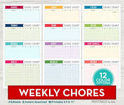 Chore Software Kids Chore Chart Printable Chore Chart System Chart System Etsy