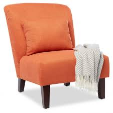 Orange Leather Occasional Chairs