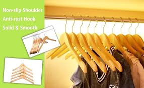 yellow hangers for clothes com hanger wooden coat natural finish with black post wooden hangers