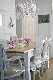 17 Picturesque Shabby Chic Dining Room Designs : Stephanie Bradley French  Country Shabby Chic Dining Room Design with Minimalist Wooden Dini.