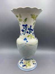Tracey Porter Hand Painted Flower Vase | EstateSales.org