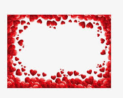 red hearts border red heart frame png and vector heart border png