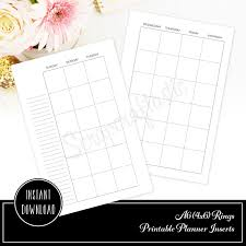 Printable Binder Inserts Month Two Pages Mo2p Undated A6 Rings Binder Printable Planner Inserts