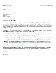 Quality Inspector Cover Letter Sample Assurance Manager Stanmartin