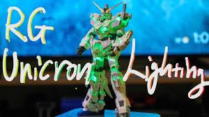 Bandai Rg Unicorn Lighting Model Gundam Base Limited Review 4k