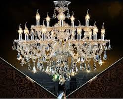 european large candle chandelier living room duplex villas hotel clubs chandeliers luxurious crystal chandelier for hotel lobby crystal candle lamp cognac