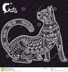 Due Gatti Illustrazione Vettoriale Illustrazione Di Cute 24075546