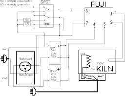 220v kiln proposed circuit diagram there has been a suggestion that the solid state relays could be replaced a mechanical relay to save a few dollars a single dpst relay a 120v